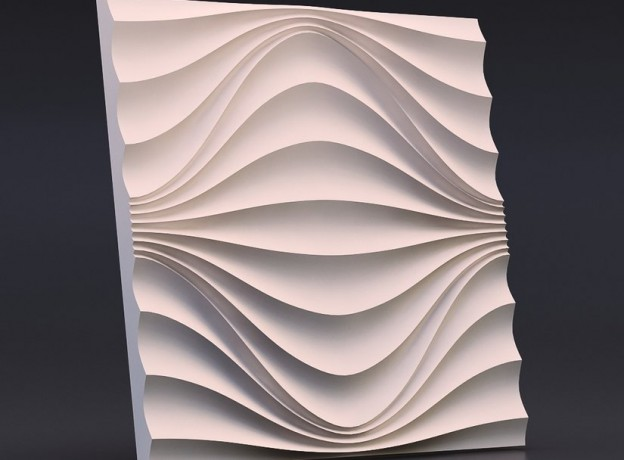 Mold for 3D panels Circular wave