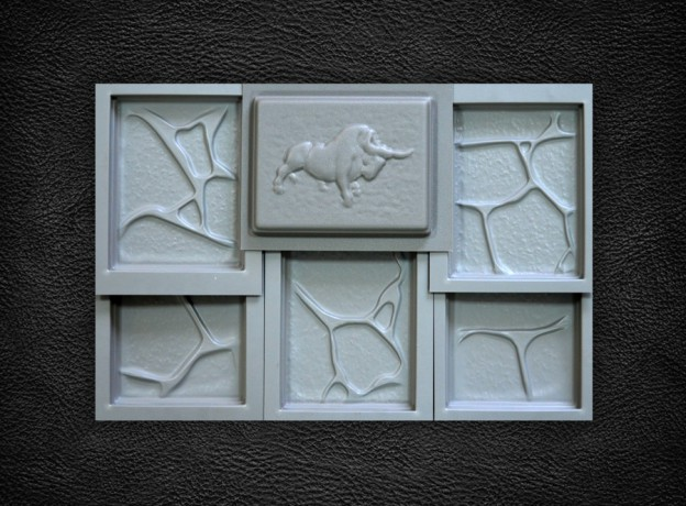 A set of molds for stone, a collection of the Beast, 6 stones