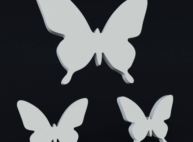 Molds for 3d panels for decoration Swarm of butterflies 2