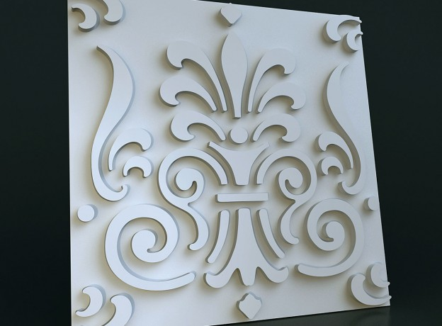 Molds for 3D tiles Baroque-2 polyurethane