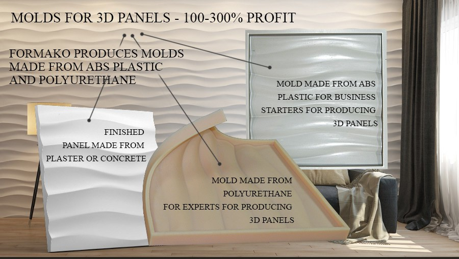 Formako company - molds for 3D panels made from ABS, PVC